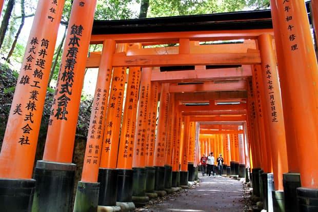 Fushimi Inari Shrine via Willflyfood