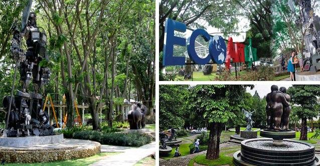 Objek Wisata Taman Patung & Taman Bambu Ecoartpark Sentul