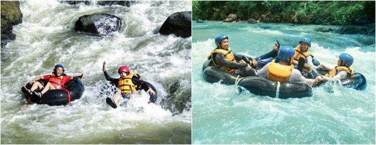 River Tubing Cikaengan via IG @nannesylvia @capture.garut_