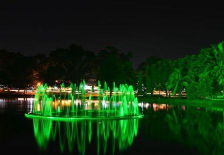 Tempat Wisata Keluarga Kembang Iwak Family Park di Palembang