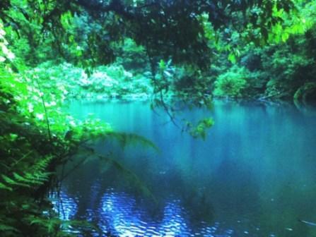 Objek Wisata Alam Telaga Biru di Cianjur