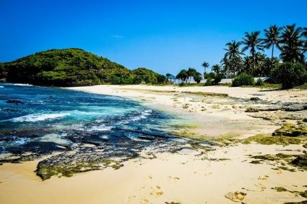 Objek Wisata Pantai Srau di Pacitan