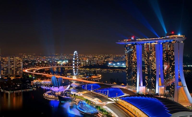 obyek wisata marina bay sands di singapura