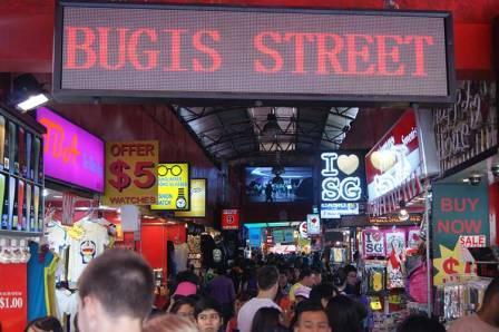 Tempat Wisata Belanja di Singapore - Bugis Street