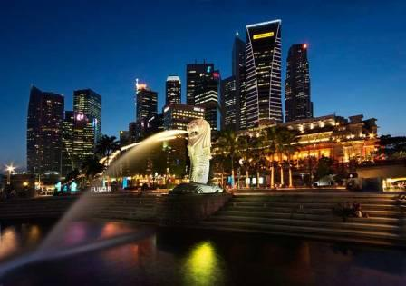 Tempat Wisata Merlion Park di Singapore