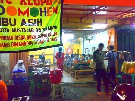 Sate Klopo Ondomohen Ny.  - tempat wisata kuliner surabaya