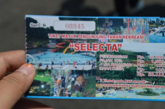 Tiket Masuk Selecta Malang
