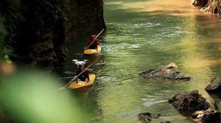 Objek Wisata Ciwayang Rafting Pangandaran