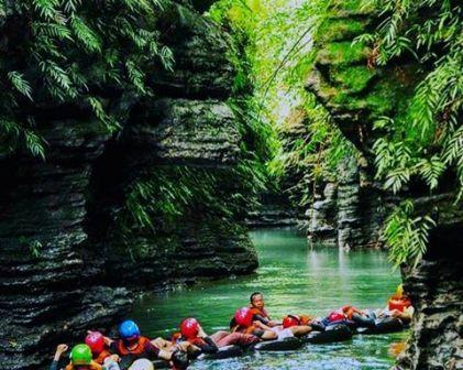 Objek Wisata Santirah River Tubing Pangandaran