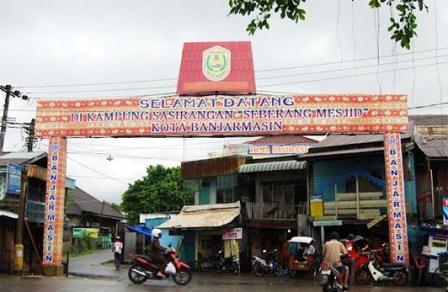 Kampung Sasirangan khas Banjar