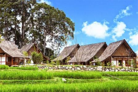 Villa Kampung Layung di Dusun Bambu