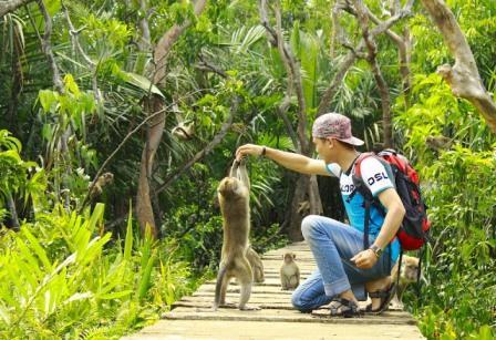 Wisata ke Pulau Kembang Banjarmasin