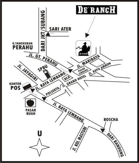 Peta Lokasi De Ranch Lembang