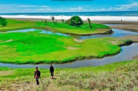 Pantai Bopong - tempat wisata di kebumen