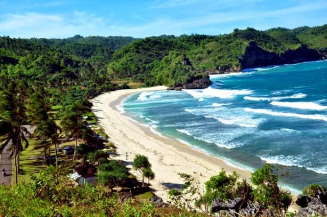 Landskap indah pantai Teleng Ria Pacitan