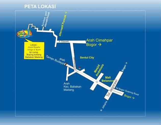 Peta Lokasi Curug Bidadari Bogor