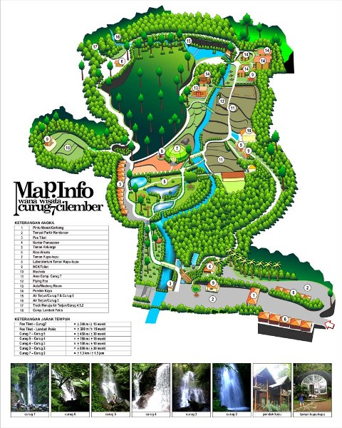 Peta Lokasi Wisata Curug Cilember