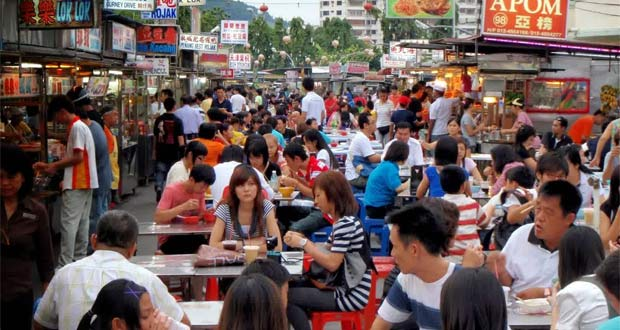 Gurney Drive Hawker Centre via 123travelguide