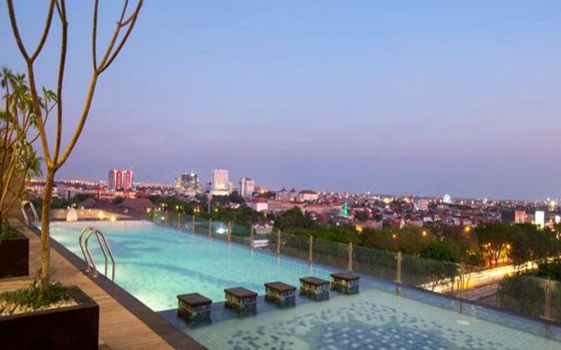 Kolam Renang Rooftop Pool Best Western Papilio Hotel via Myfave