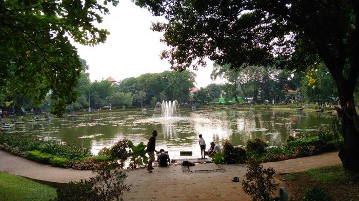 Air Mancur di Taman Situ Lembang