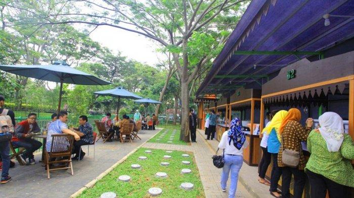 Wisata Kuliner di Taman Potret via Tribunnews