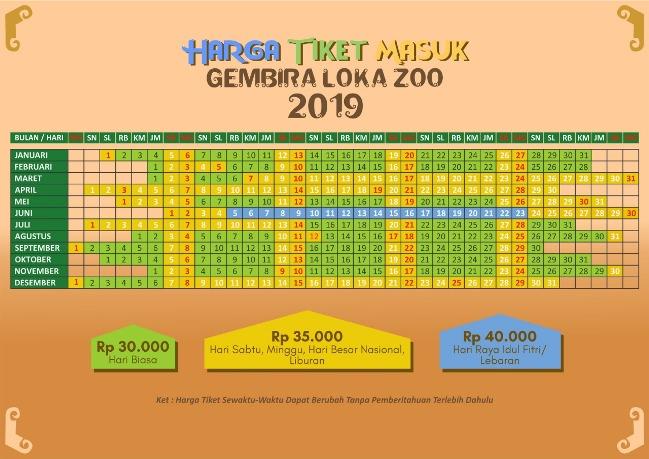 Harga Tiket Masuk Gembira Loka Zoo Terbaru