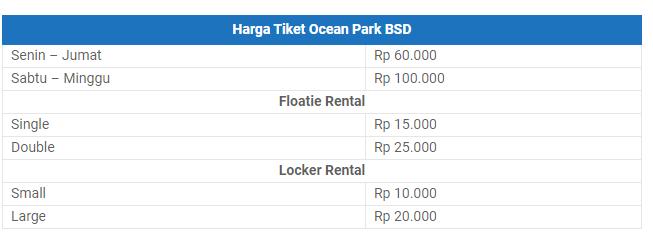 Harga Tiket Masuk Ocean Park BSD