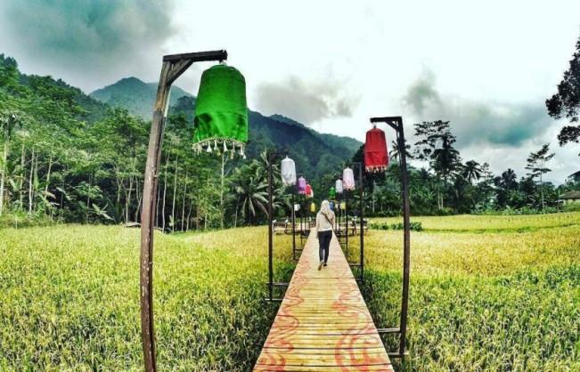 Lampion Tengah Sawah via IG @dwijuni.26