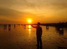 Menikmati Indahnya SUnset di Pantai Depok via Rudist.wordpresscom