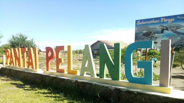 Pantai Pelangi Jogja via Tribunnews