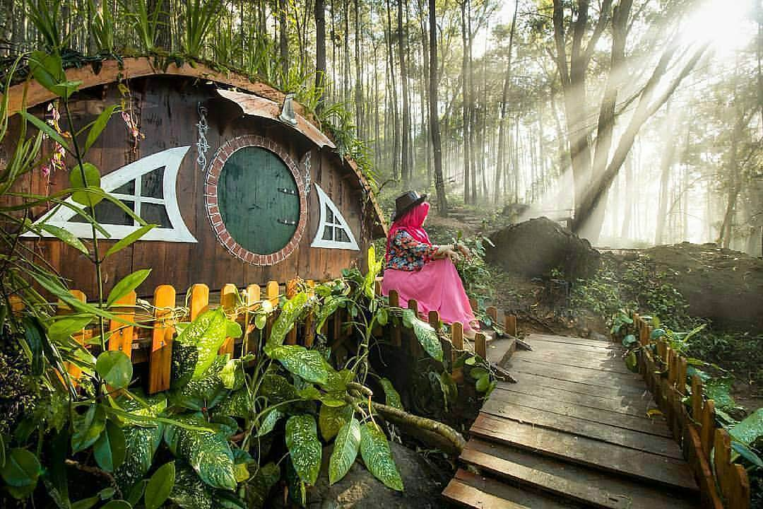 Rumah Hobbit Songgo Langit via IG