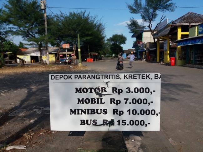 Tarif Parkir Pantai Depok