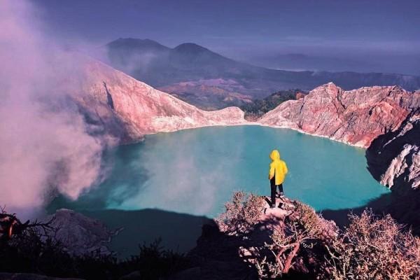 Danau Hijau Tosca di Kawah Gunung Ijen via IG @bangkitargananta