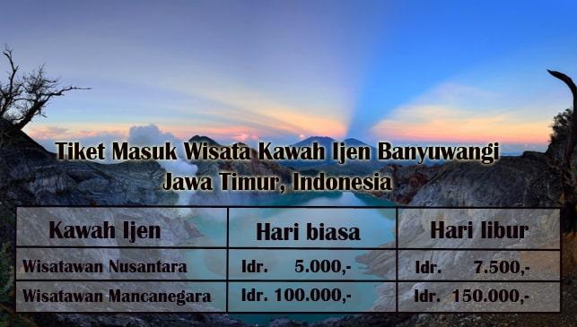 Harga Tiket Masuk Wisata Kawah Ijen Banyuwangi via Bromotour