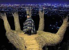 Spot Tangan Raksasa di Malam Hari via IG @sutrisno935