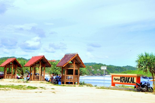 Gazebo di Pantai Krakal