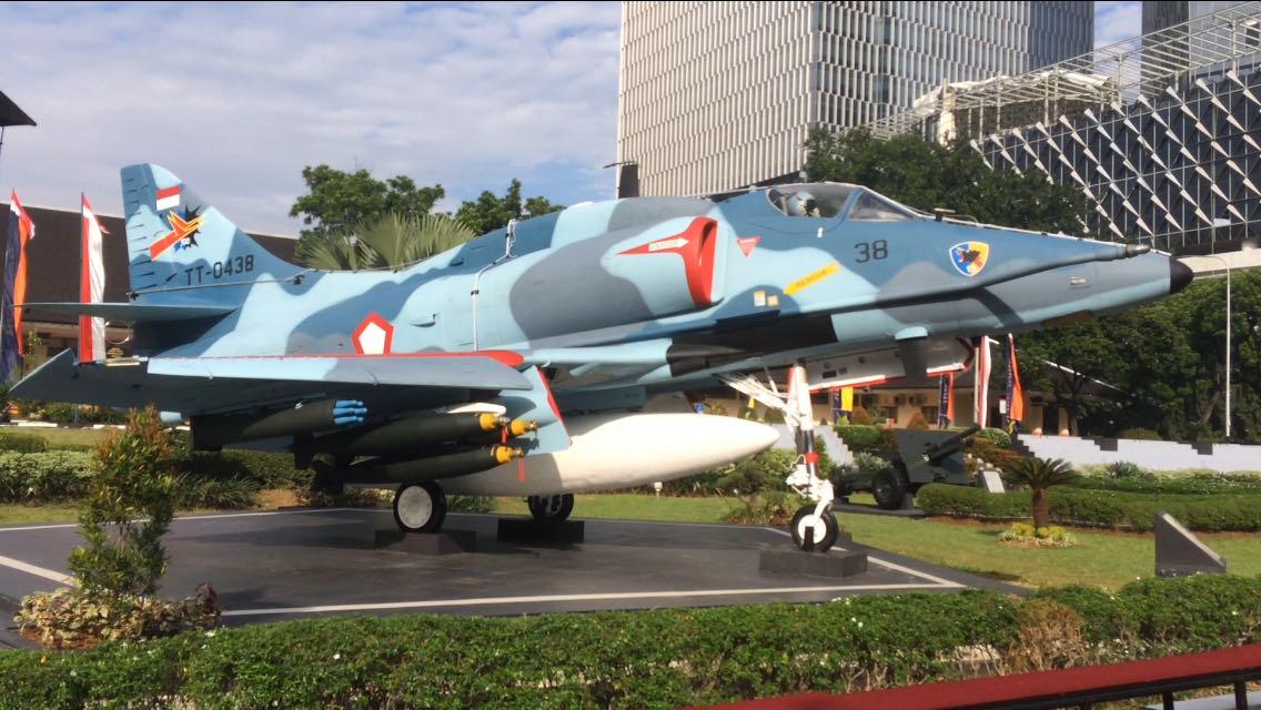 Monumen A 4 Skyhawk via Jakartagreatercom