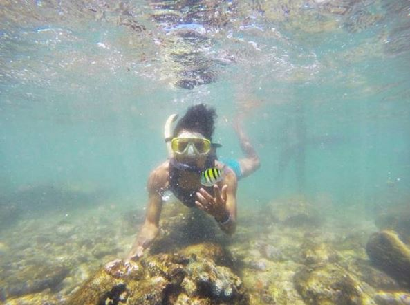 Snorkeling di Krakal Beach via Ig @sutiko_