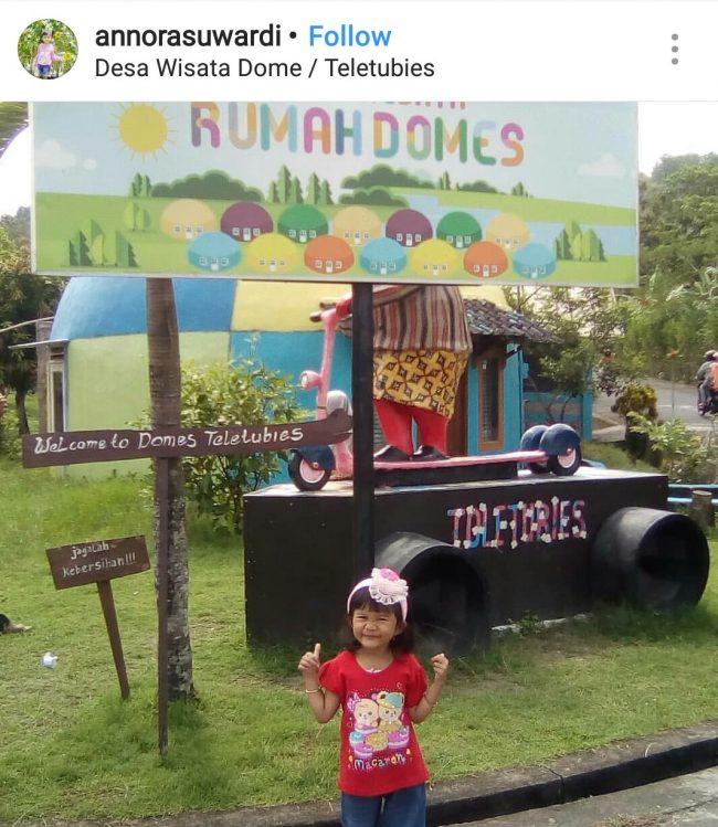 Desa Wisata Rumah Domes via IG @annarasuwardi