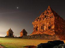 Ijo Temple at Night via Wikipedia