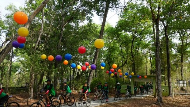 Menjelajahi Tahura dengan Sepeda via Tribunjogja