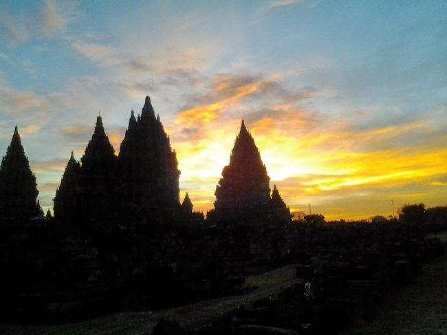 Sunset di Prambanan Temple
