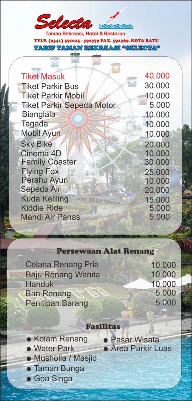 Harga Tiket Masuk Selecta Batu Malang