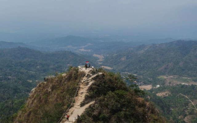 Mendaki Salah Satu Bukit di Sekitar Kebun Teh via Extra Stock