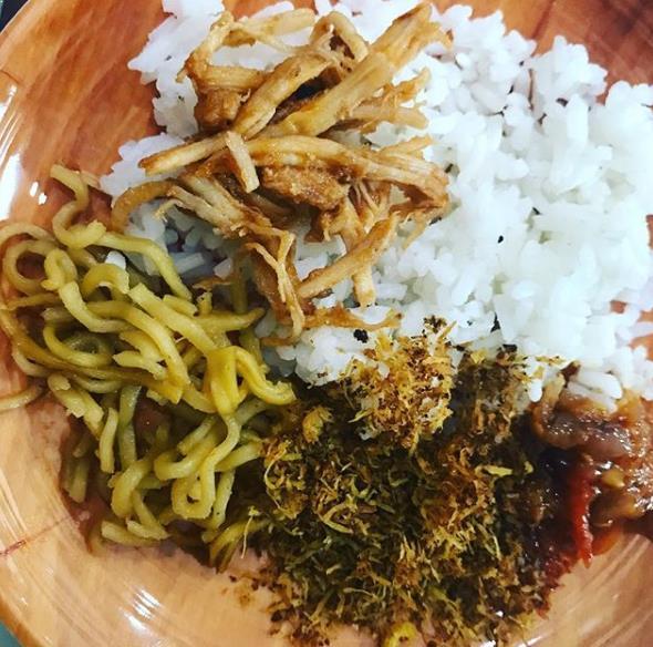 Nasi Pepes khas Cianjur via IG @beebean_miumiu