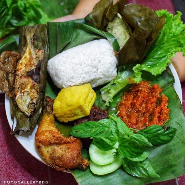 Nasi Timbel via IG @foodgallerybdg