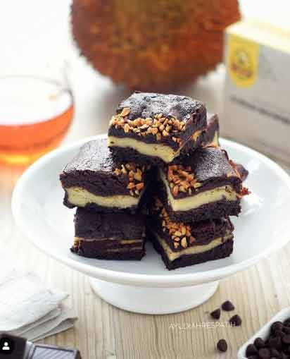 Brownies Duren via IG @ayudiahrespatih