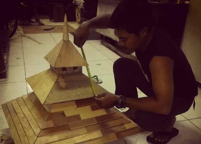 Kerajinan Miniatur Masjid Agung Demak via IG @hillalfazari