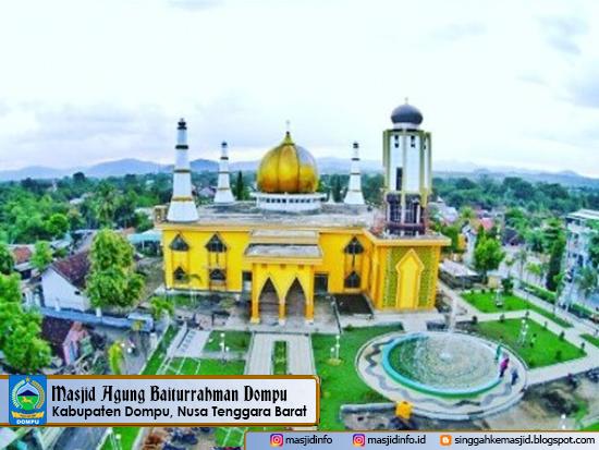 Wisata Masjid Baiturrahman Dompu via Masjidinfo