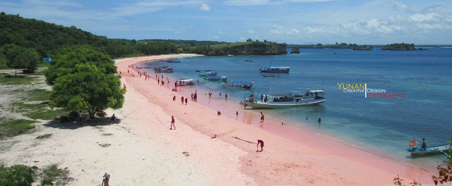Wisata Pink Beach via Yunan Creative - tempat wisata di Lombok Timur